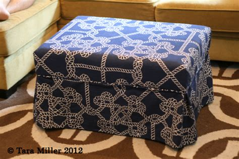 How To Make An Ottoman Out Of A Table by Coffee Table To Upholstered Ottoman Tutorial Tara Miller
