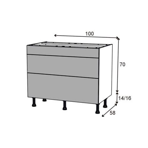 meuble cuisine casserolier meuble de cuisine casserolier ginko gris 3 tiroirs l100 x