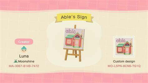 ables sign nook qr custom design ids qr codes