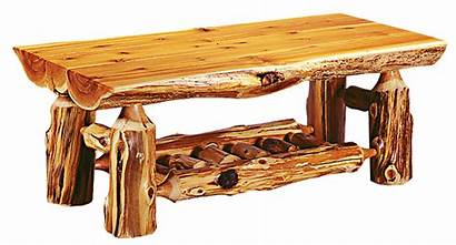 Table Furniture Log Coffee Rustic Tables Logger