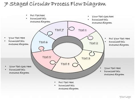 business  diagram  staged circular process flow