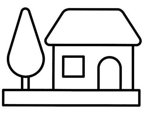 Coloriage Maison Simple Vectoriel Dessin Gratuit à Imprimer