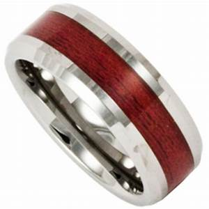 8mm tungsten wedding ring with redwood inlay by ring ninja With redwood wedding ring