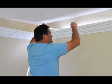 how to install track lighting youtube install indirect lighting in crown molding by creative