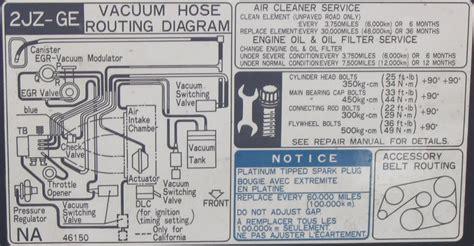 jz ge underhood vacuum diagram clublexus lexus forum