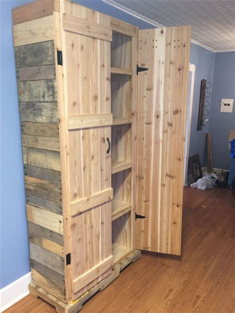 building cabinets out of pallets pallet pantry pallet projects pinterest pantry