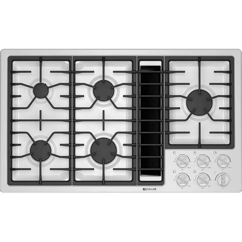 downdraft gas cooktop jgd3536bw jenn air 36 quot downdraft gas cooktop white on