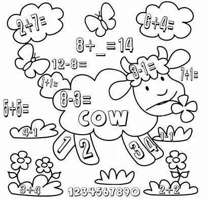 Math Kindergarten Worksheets Coloring Pages Subtract Printable
