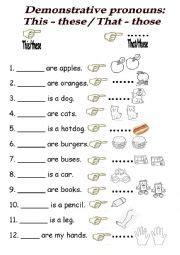demonstrative pronouns esl worksheet by isaveluchita
