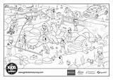 Yeti Colouring Crime Sheets Scene Survey sketch template