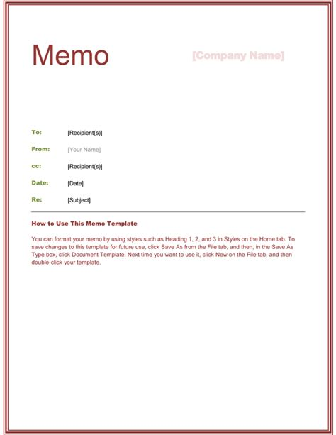 Template Samples For Creating Office Memo Vlashed