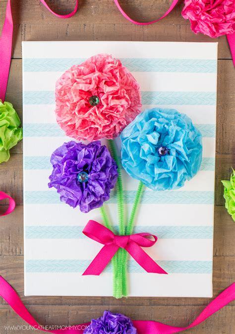 tissue paper flower bouquet canvas flower crafts paper