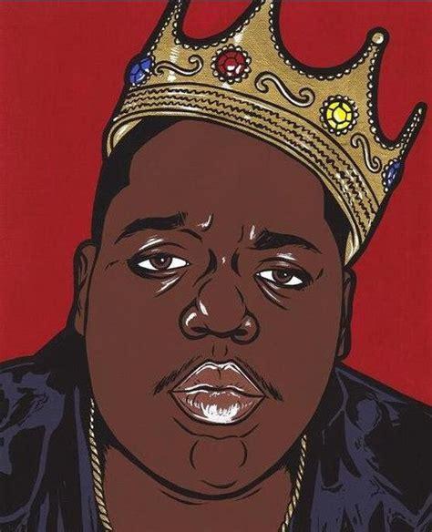 biggie black cartoon art pop art illustration rapper