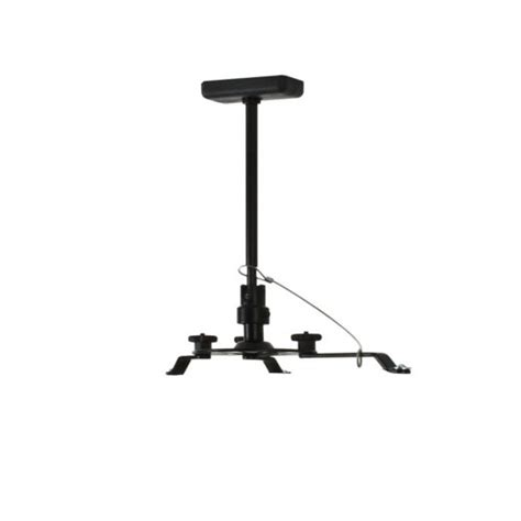 Install Projector Mount Drop Ceiling by B Tech Projector Ceiling Mount With Drop Black