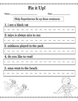 search results sentence writing worksheets   grade
