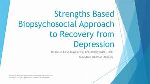 Depression Recovery: A Strengths-Based Biopsychosocial Approach Biopsychosocial model