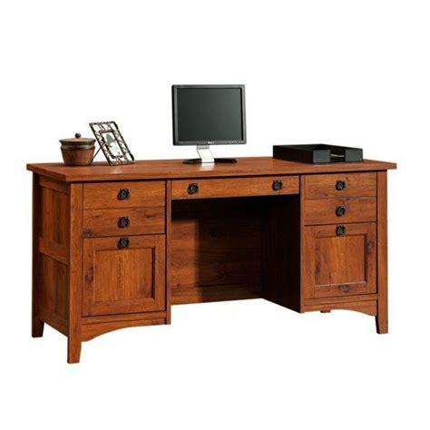 mission craftsman style computer credenza desk mission