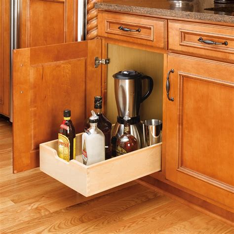 Kitchen Cabinet Organizers Wood by Rev A Shelf Wood Pullout Drawer 11 Quot Wide 4wdb 12