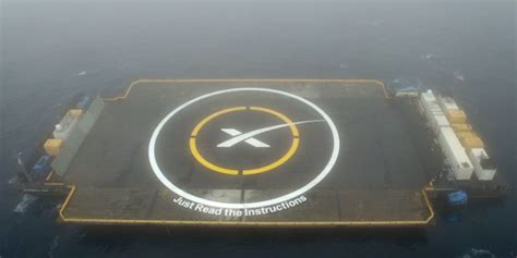 spacex launches satellite  sticks  boat landing
