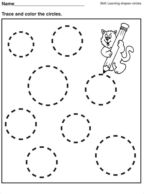 tracing pages for preschool worksheets printable