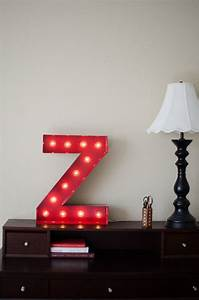 vintage inspired marquee light letter z by saddleshoesigns With black marquee letters with lights