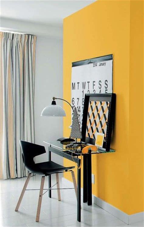 le bureau jaune une déco safranée pour un bureau gai et lumineux