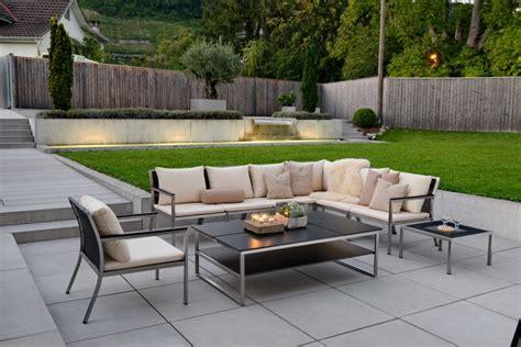 Lounge Garten by Gartenlounge Aus Kunstrattan Alu Chromstahl Und Holz