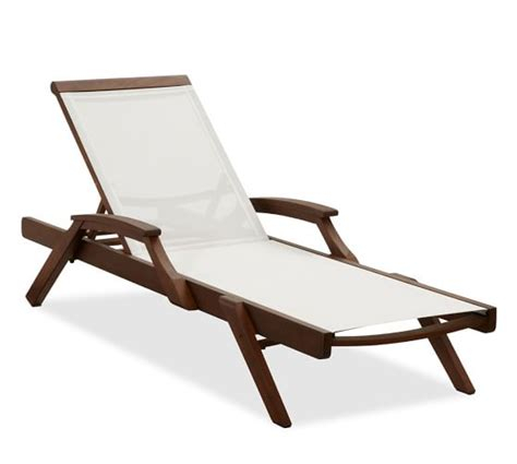 mesh chaise lounge chairs chatham mesh stacking chaise honey set of 2 pottery barn