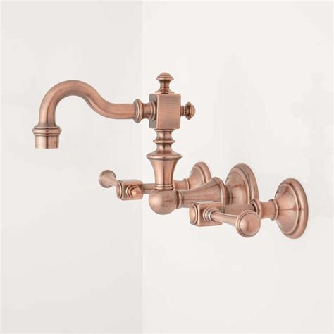 Vintage Wall Mount Faucet by Vintage Wall Mount Kitchen Faucet Lever Handles Kitchen