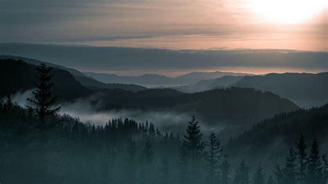 Sunlight, Landscape, Forest, Mountains, Sunset
