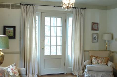 The Best Window Treatment For French Doors How To Put Up Curtain Rods White Holdbacks Uk Bathroom Curtains Blinds Ideas Sheer Nz Make Valance Box For Bay Windows In Kitchen Panels French Doors Monkey Tie Backs