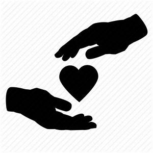 Care, giving, hands, healthcare, help, love, support icon ...