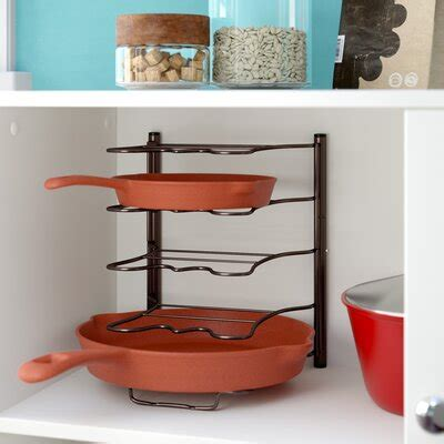 pot  pan storage cabinet wayfair