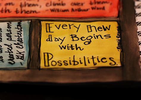 day begins  possibilities smile quote