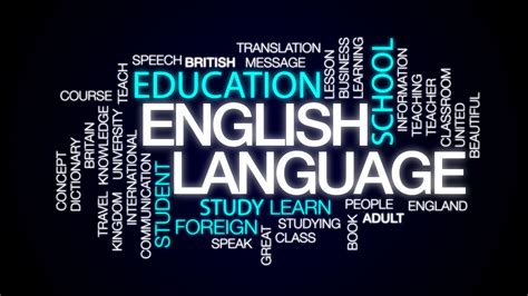 english language animated word cloud text design