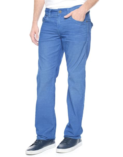 light blue corduroy pants mens true religion ricky straight corduroy mens pant in blue