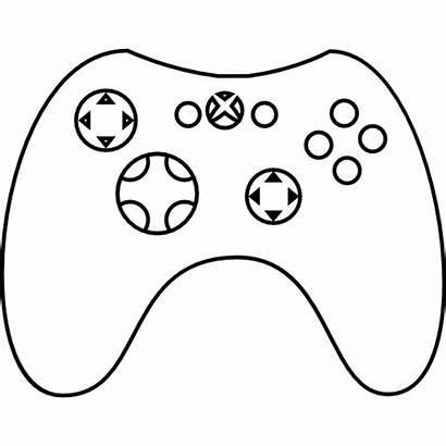Xbox Controller Gamepad Icon Vector Drawing Gaming