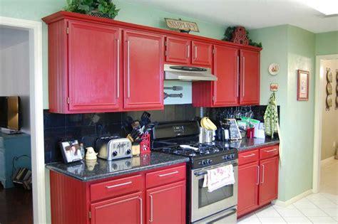 Red Kitchens : Red Kitchen Cabinets On Modern Design