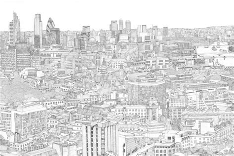 art therapy coloring page london view   sky
