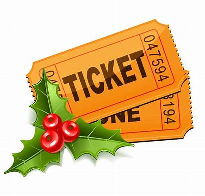 Tickets Christmas Holiday Mistletoe Clipart Movies Leaves
