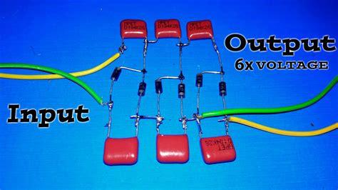 make a voltage multiplier curcuit 2x 3x 4x