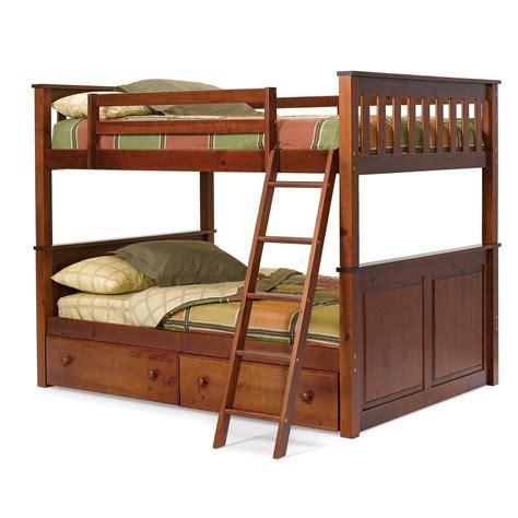 bunk bed woodcrest pine ridge bunk bed chocolate