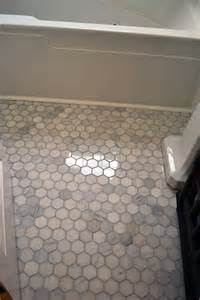 2 Hexagon Marble Floor Tile by Herringbone Subway Tile Lemon Grove Avenue