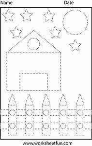 Picture Tracing – Shapes – 1 Worksheet / FREE Printable ...  Tracing