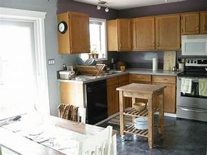 intriguing grey walls in kitchen with white cabinet With best brand of paint for kitchen cabinets with modern art for living room walls