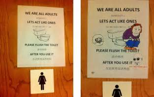 great ideas for small bathrooms humorous bathroom etiquette signs bathroom design 2017