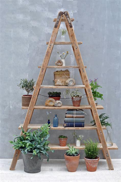 vintage ladder shelf vintage reclaimed ladder shelves rustic shelving 3231
