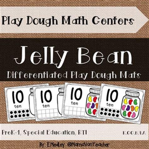 Jelly Bean Doormats by Interactive Play Dough Math Centers By Mamavonteacher