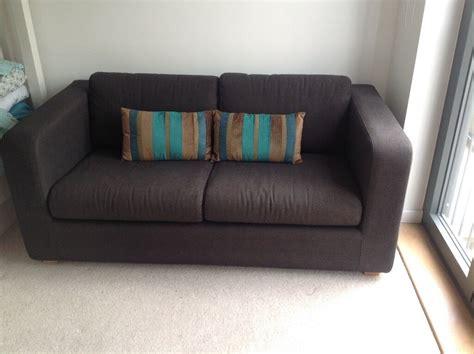 habitat futon habitat porto sofa bed 2 seater in charcoal grey