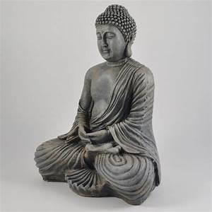 Buddha Aus Stein : gro e buddha skulptur dhyana mudra in stein optik buddha asiatika ~ Eleganceandgraceweddings.com Haus und Dekorationen